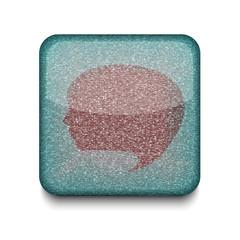 Vector version. Bubble face icon.
