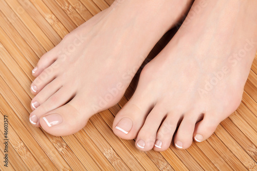 Healthy and beautiful female feet