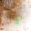 Grunge abstract background with old torn posters with blur boke