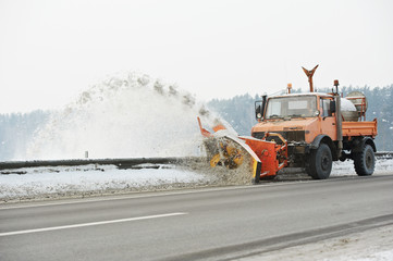 Winter road snow removal