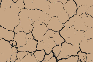 The brown earth with cracks texture.