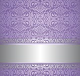 Fototapety violet and silver  luxury vintage wallpaper