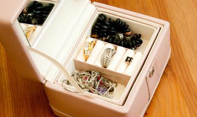pink trinkets box