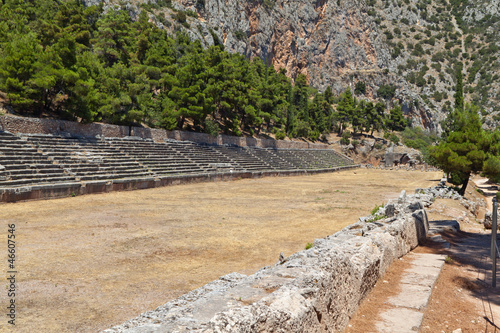 Ancient Delphoi site in Greece. The stadium