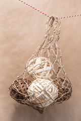 Wooden natural interior decorative wicker balls