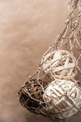 Wooden natural interior decorative wicker balls