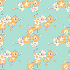 Flowery Boughs - Seamless Pattern