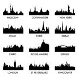 Fototapety city silhouette vector