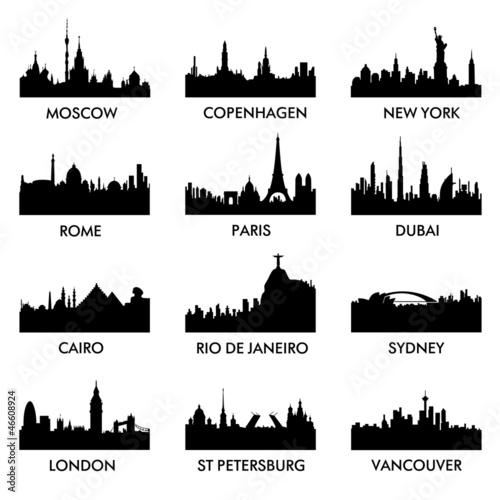 city ​​silhouette vector