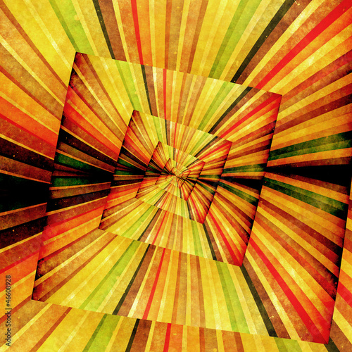 In de dag Psychedelic Multicolor Sunbeams grunge background