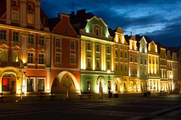 Old Market Square in Boleslawiec (German: Bunzlau)  in Poland.