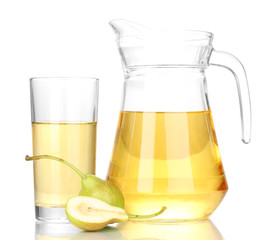 duchess drink with pears isolated on white.