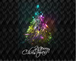 colorful christmas tree, design, vector illustration.