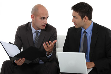Men discussing a business proposition