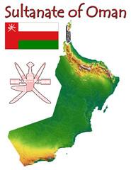 Sultanate Oman national emblem map symbol motto