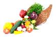 Autumn cornucopia and vegetables