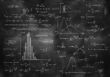 Fototapety math physics formulas on chalkboard