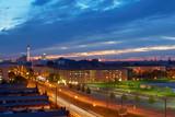 Fototapete Stadt - Abenddämmerung - Stadt allgemein