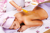 spa treatment with honey