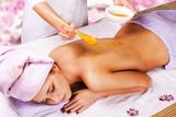 Fototapety spa treatment with honey