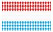 Bandiera del lussemburgo formata da tante persone