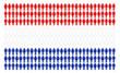 Bandiera olandese formata da tante persone