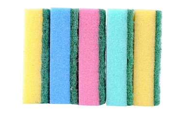 colorful sponge isolated on white background