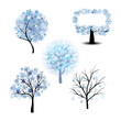 Winter tree set
