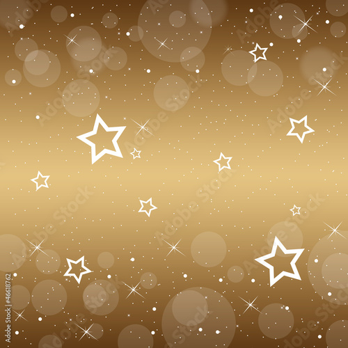 Festive gold Christmas with stars