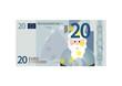 20 Euro Schein mit Weihnachtsmann - Vektor