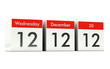 12.12.12 - Unique Day - Wednesday 12 December 2012