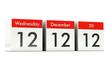 12.12.12 - Unique Day - Wednesday 12 December 2012