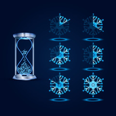 New Year Vector Loader Progress Bar Designs