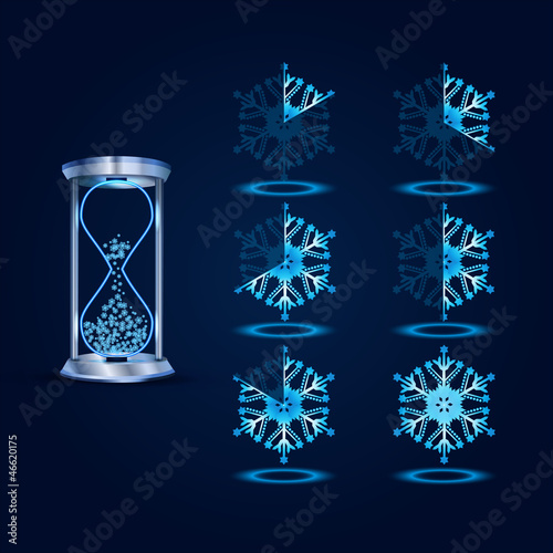 New Year Vector Loader Progress Bar Designs