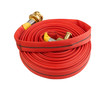 fire hose soft pipe extension water cable isolated on white