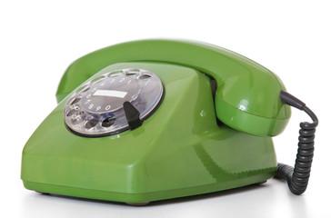 Altes grünes Telefon