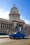 Traffic on Old Havana. Capitolio, Cuba