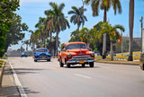American classic cars in Havana. poster