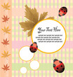Cute vector card design with autumn concept