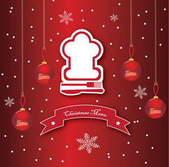 Chef's hat christmas menu vector design