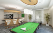 Part of Living Room with Billiard