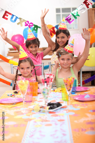 Children celebrating birthdays