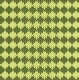 Dark and light green rhombuses knitting poster