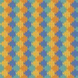 Seamless rhombus knit pattern poster