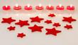 Rote Filzsterne und Kerzen