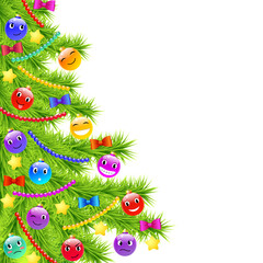 Christmas tree with funny decoration