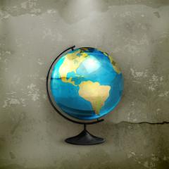 School globe, old-style