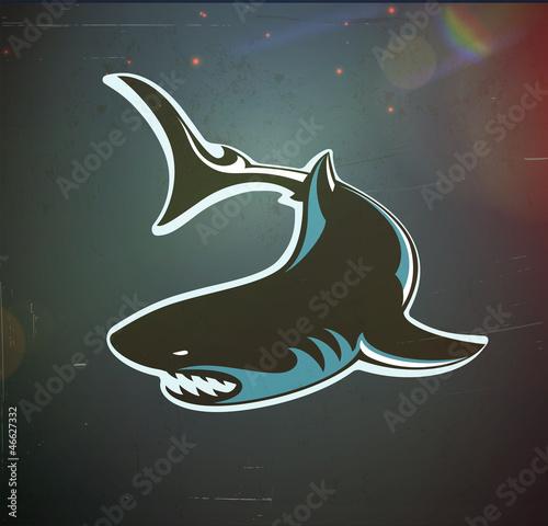 Angry shark - 46627332