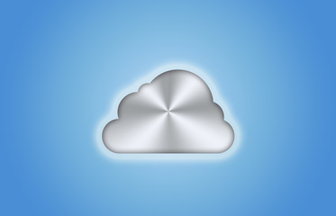 Silberne Wolke cloud computing