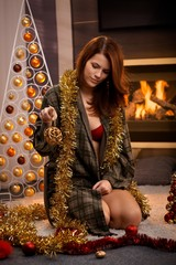 Sexy christmas portrait